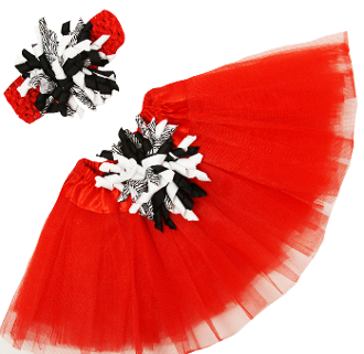 Red Zebra embellished Tutus from Bear Haven Boutique!