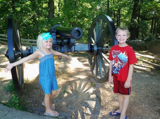 Sissy and Bubby in Gettysburg