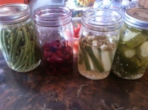 We also enjoyed some delicious pickled veggies brought by a friend