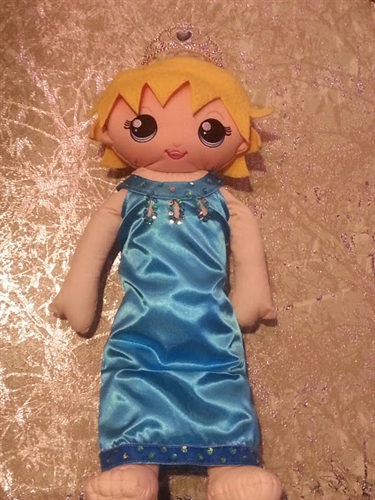 Frozen Inspired Dolls. $23.95 each or purchase a party kit for 6 for $120.00