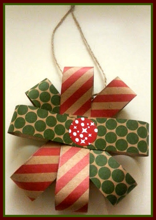 These Pretty Ornaments are easy to make and can be used on your tree, around the house, or on a banner!